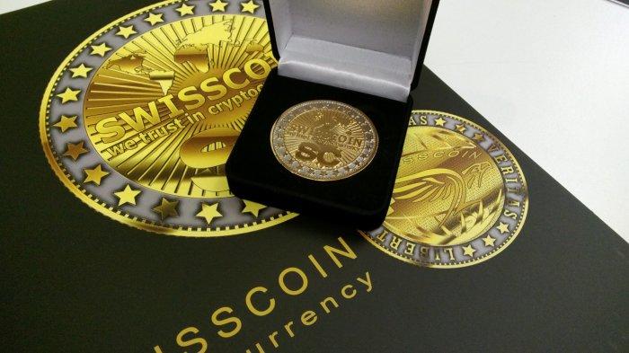 Сувенирная монета SWISSCOIN